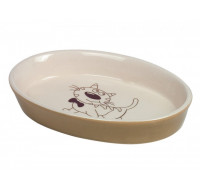 Cats bowl oval brown