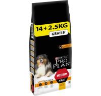 Purina Pro Plan Medium Adult 14кг+2,5кг