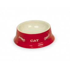 Cat bowl red cup