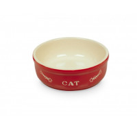 Cat bowl red