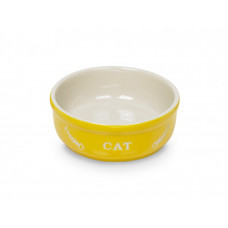 Cat bowl yellow