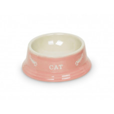 Cat double bowl pink