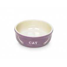 Cat bowl purple