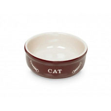 Cat bowl brown
