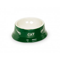 Cat bowl green cup