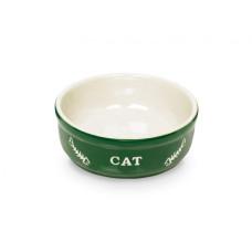 Cat bowl green