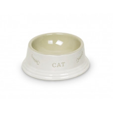 Cat bowl white cup