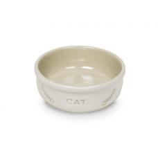 Cat bowl white