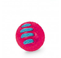TPR ball with rope pink