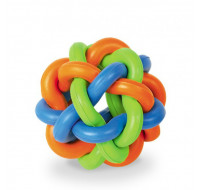 Rubber knotted ball